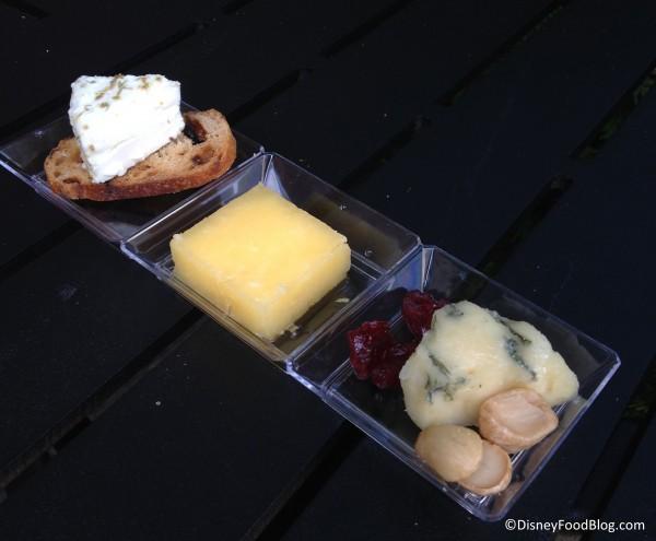 Artisan cheese plate