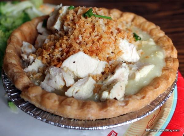 Closeup of chicken and gravy