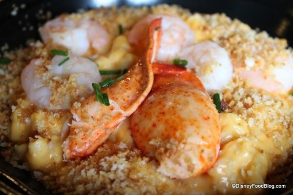 Closeup of lobster and shrimp