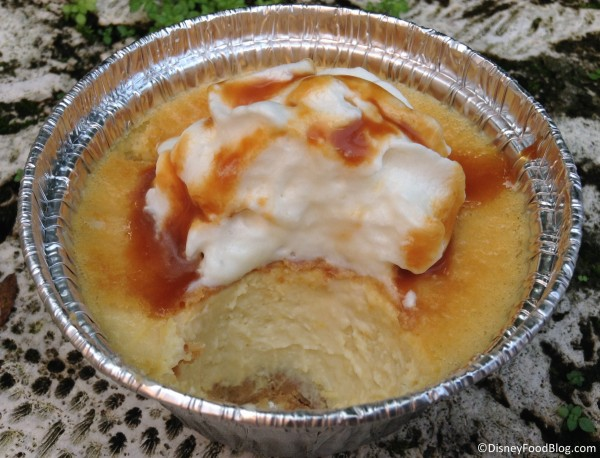 Cross section of Sweet Corn Cheesecake