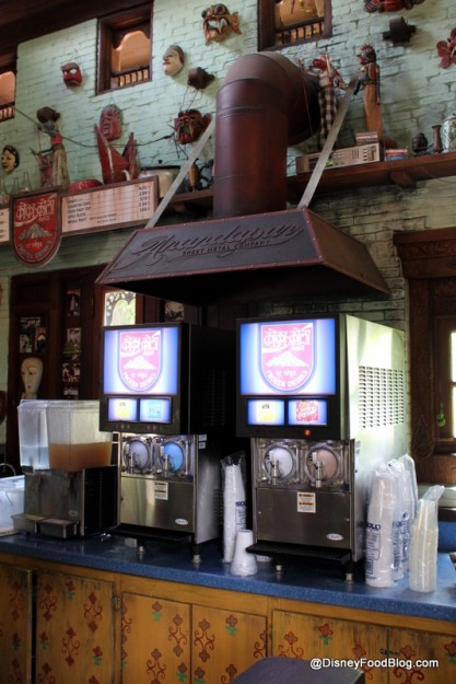 Frozen beverage machines at Drinkwallah