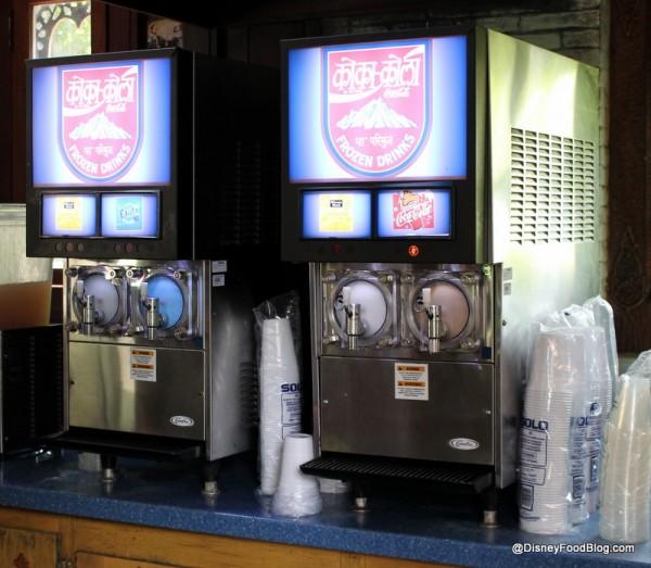 Frozen beverage machines at Drinkwallah