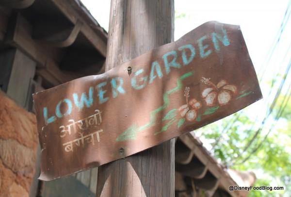 Lower Garden direction sign