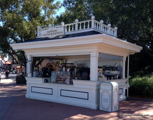 Joffrey's kiosk to the left of American Adventure