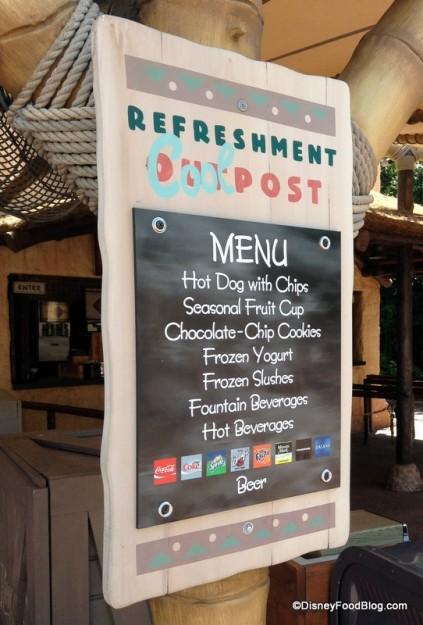 Refreshment Cool Post Menu