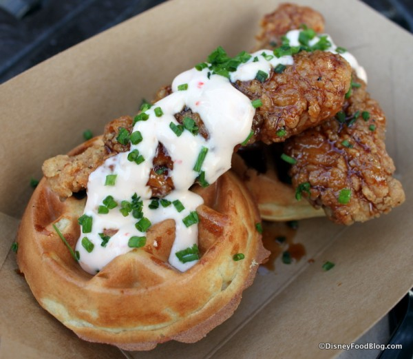 Sticky Chicken and Waffles