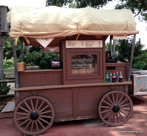 Frontierland Churro Cart -- home of the Coco Churro!