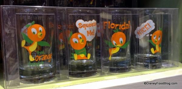 Orange Bird Juice Glasses