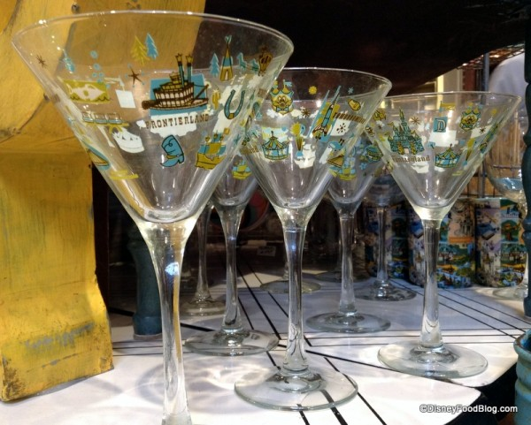 Magic Kingdom Map Stemmed Glass