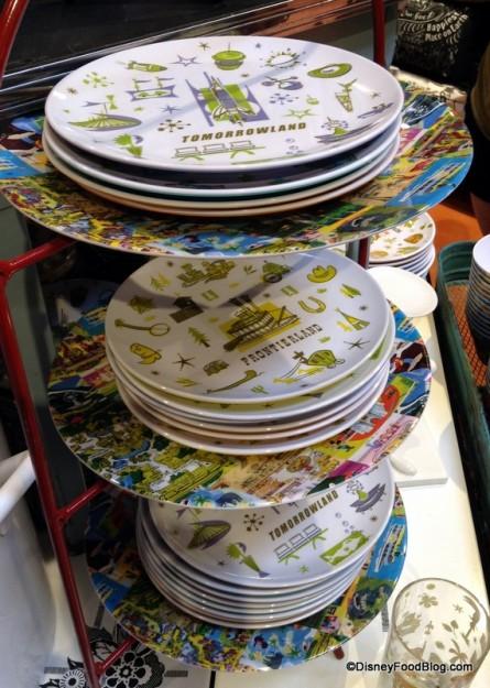Magic Kingdom Vintage Map Plates