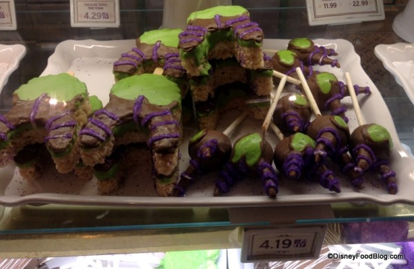 Maleficent Cake Pops and Krispy Treats