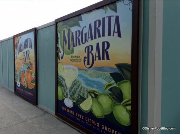 Margarita Bar construction signs