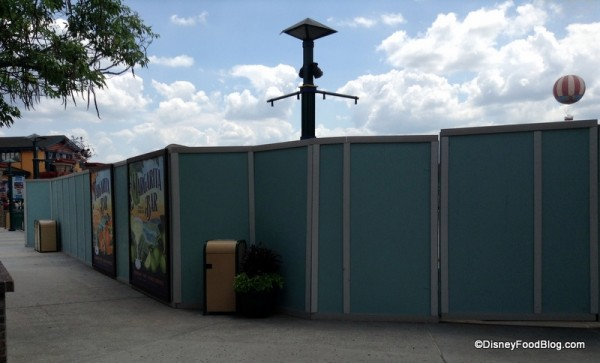 Construction walls in Downtown Disney