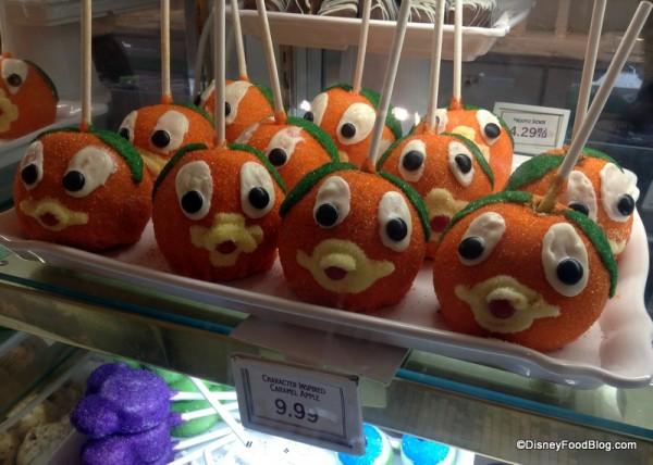 Orange Bird Candy Apples