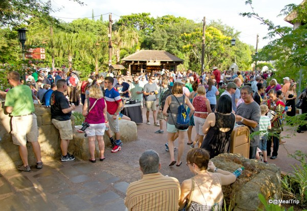Streets of the New Harambe Theater District as it Fills with People