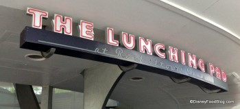 the lunching pad sign