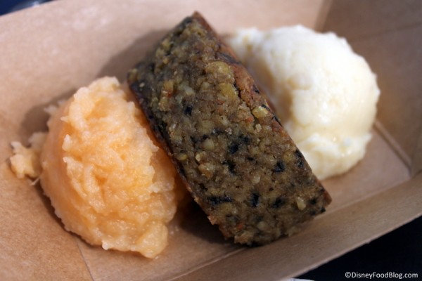 Vegetarian haggis with neeps and tatties: Griddled vegetable cake with rutabaga and mashed potatoes
