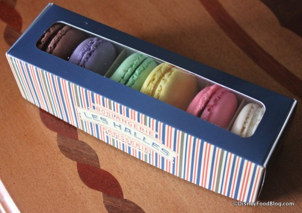 Box of Macarons from Les Halles Boulangerie Patisserie