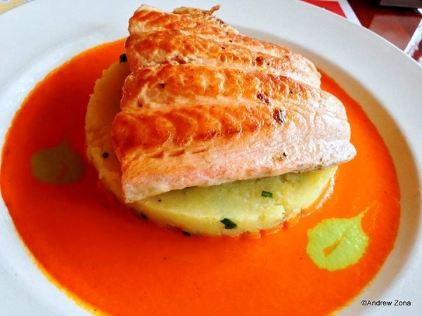 Broiled Salmon at Les Chefs de France