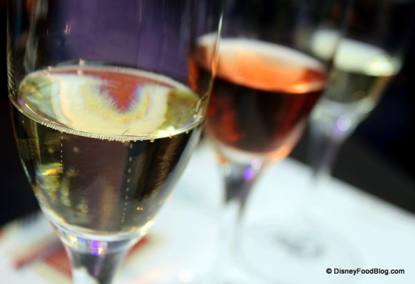 Champagne Tasting at the Epcot Food and Wine Festival