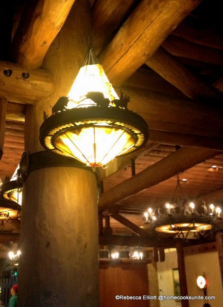 Chandeliers are Adorned with Buffalo Cut Outs