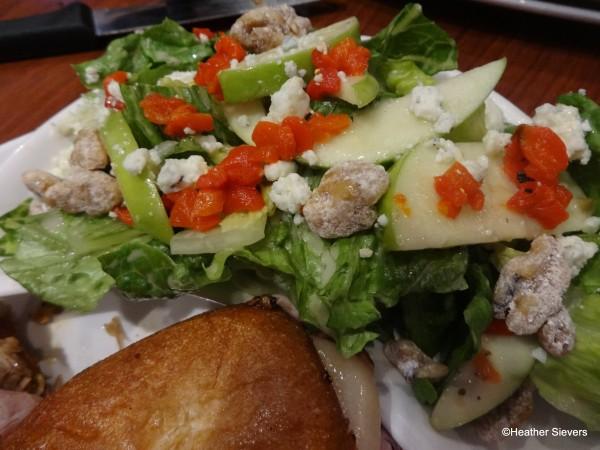 Blue Cheese Apple Walnut Salad Close Up