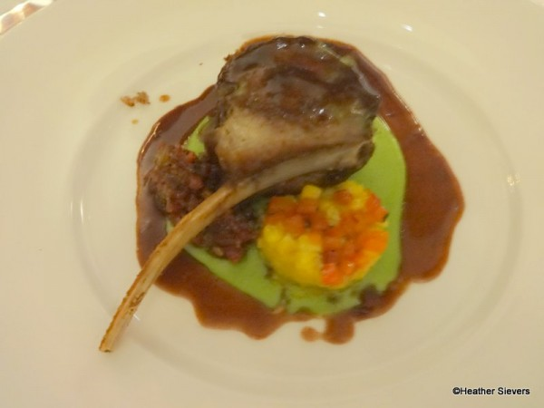 Creole Mustard Crusted Rack of Lamb with Summer Corn Succotash