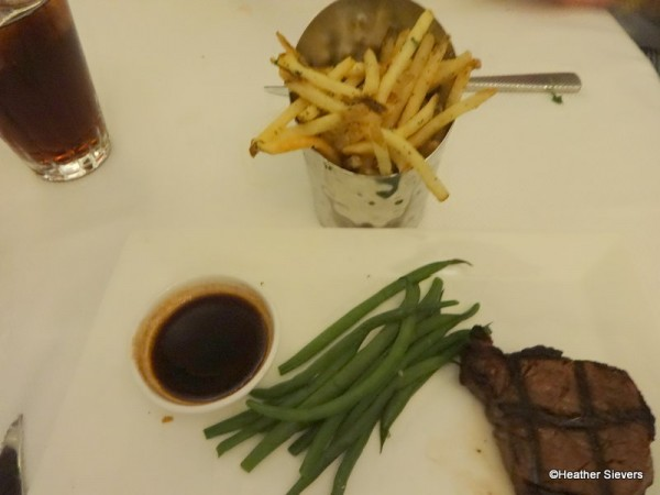 Petit Filet Minus Rice Pilaf & Fruit Skewer Plus French Fries!