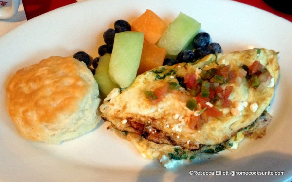 Eating a Little Lighter? The Egg White Omelet is Loaded with Spinach