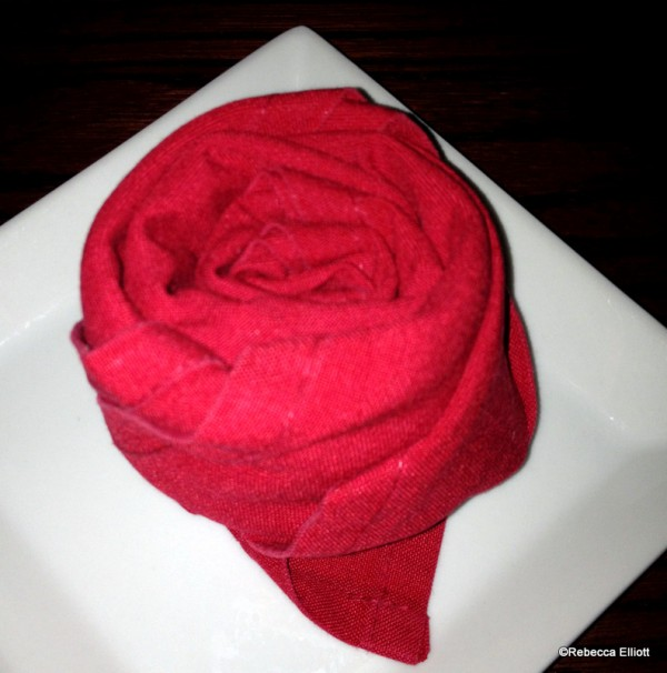Even the Napkins Carry Out the Rose Theme