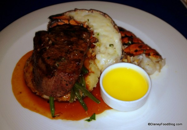 Filet Mignon and Butter Poached Lobster Tail