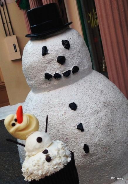 Olaf Cupcake