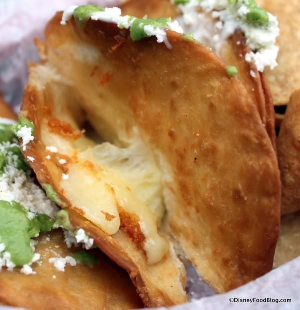 Inside Cheese Empanadas