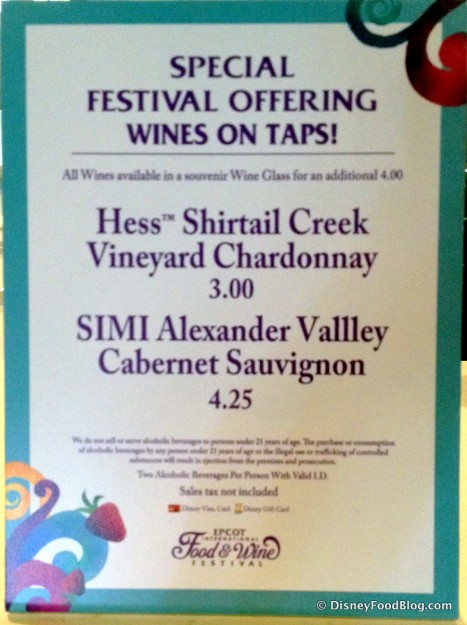 Liberty Inn 2014 Food and Wine Special Menu