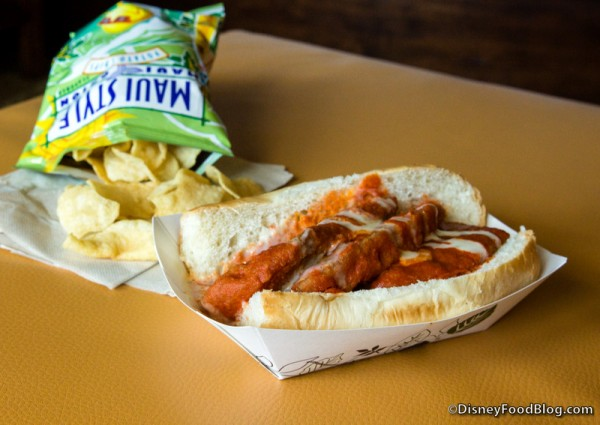 Buffalo Chicken Tenders Dog with Maui Chips