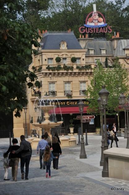 Gusteau's Sign Soars Over La Place de Rémy and Bistrot Chez Rémy