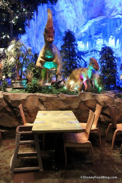Seating by the Dinosaurs