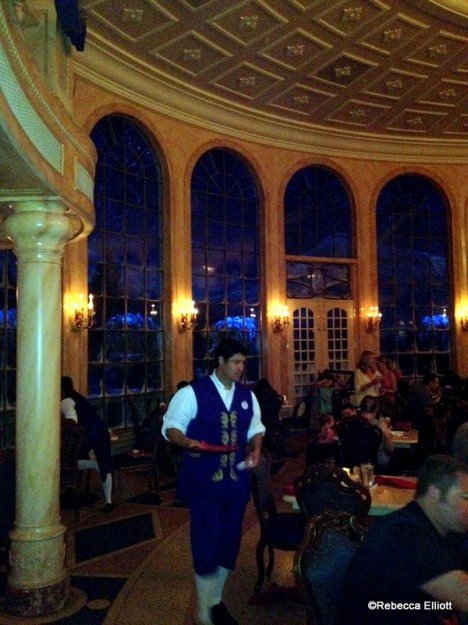 Snow Falls Outside the Windows, Setting the Scene for an Enchanted Night in the Castle