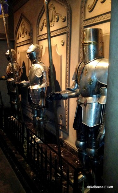 Suits of Armor Line the Exit Hallway