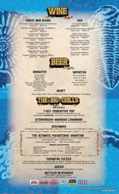 More Beverages  -- Click to Enlarge