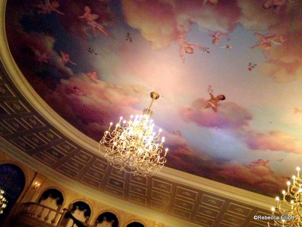 The Hand Painted Ceiling in the Ballroom Takes Your Breath Away!