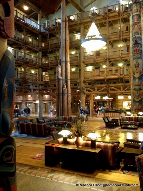 The View of the Breath Taking Wilderness Lodge Lobby