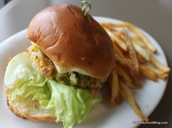 House-Made Vegetable Burger with Fries