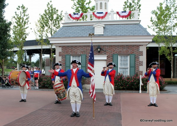 Fife and Drum Corps at the American Adventure Pavilion