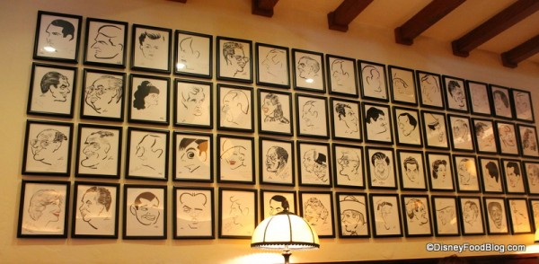 Brown Derby caricatures