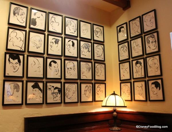 Brown Derby caricatures