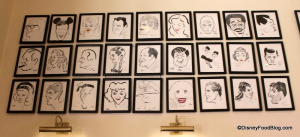 Caricatures in the waiting area