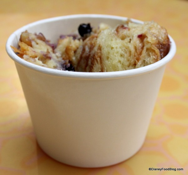 Croissant Berry Pudding in paper bowl