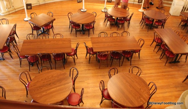 Downstairs seating
