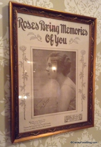 Framed sheet music cover